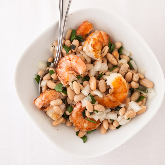 Shrimp with Cannellini-Bean Salad