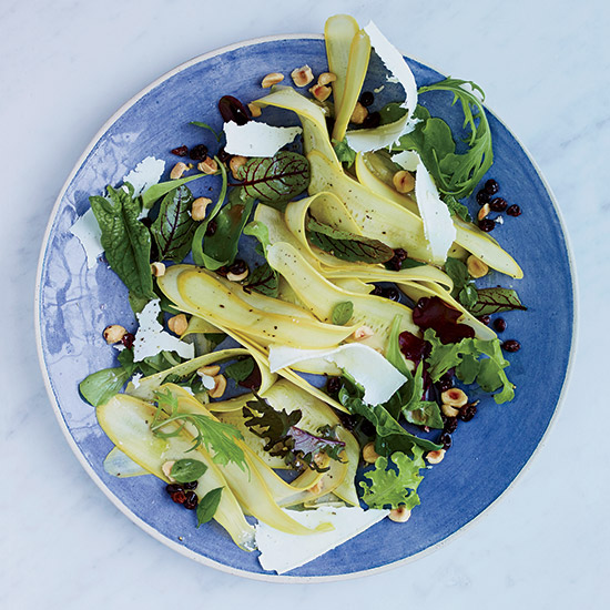 Summer Squash Salad with Pickled Currants