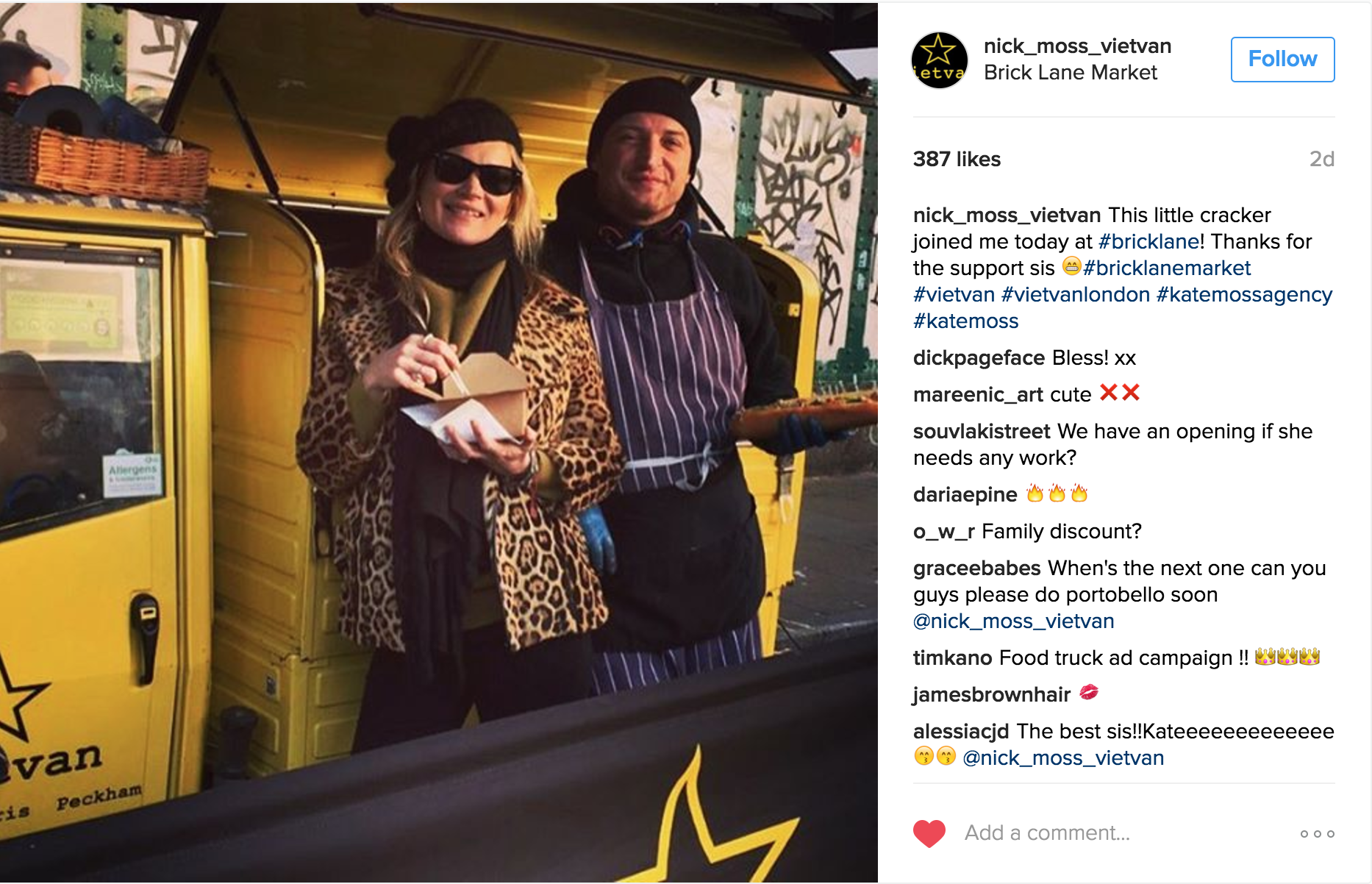 Kate Moss Moonlights Working a Food Truck