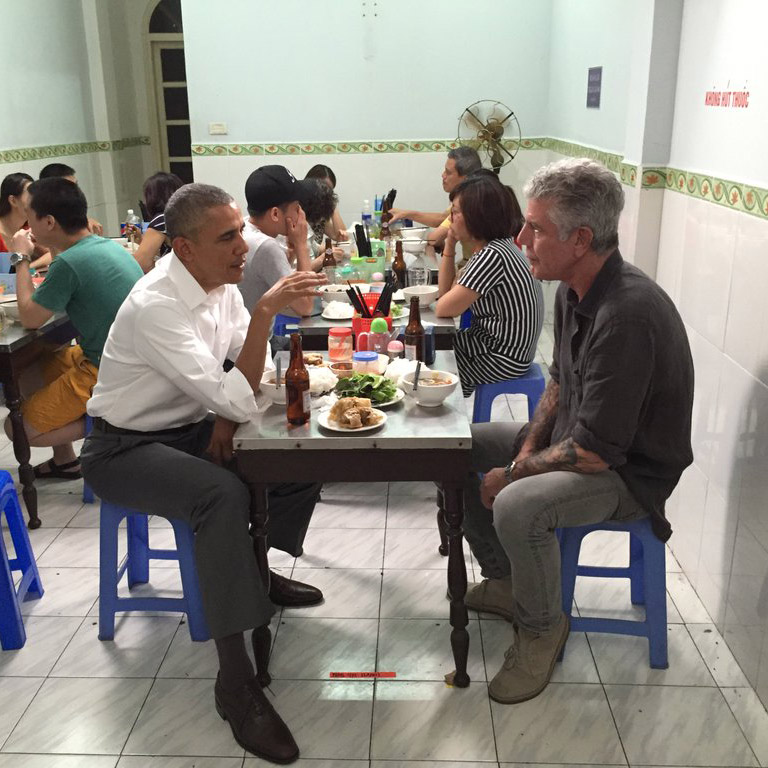 Anthony Bourdain and Barack Obama in Vietnam