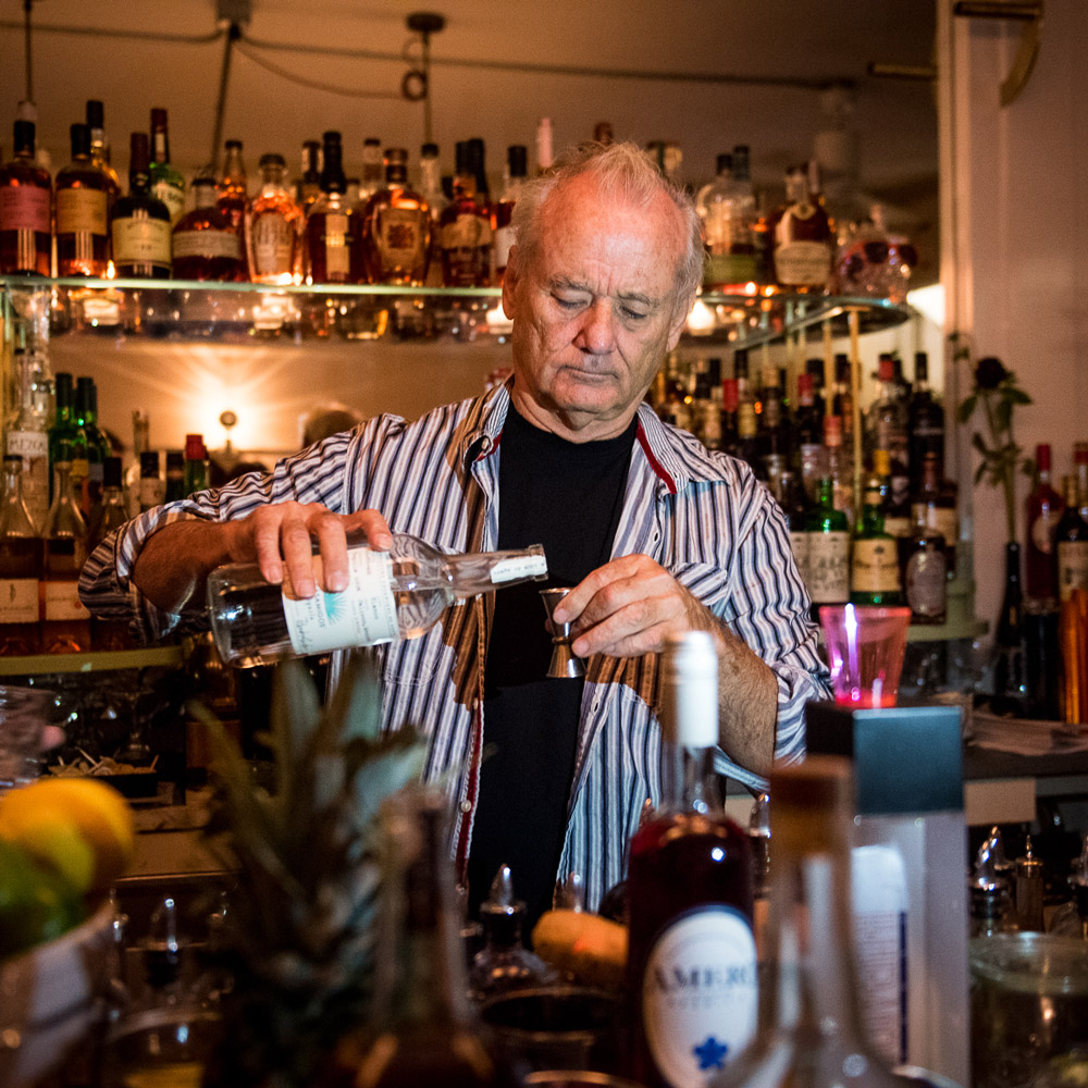 Bill Murray Bartends in Brooklyn