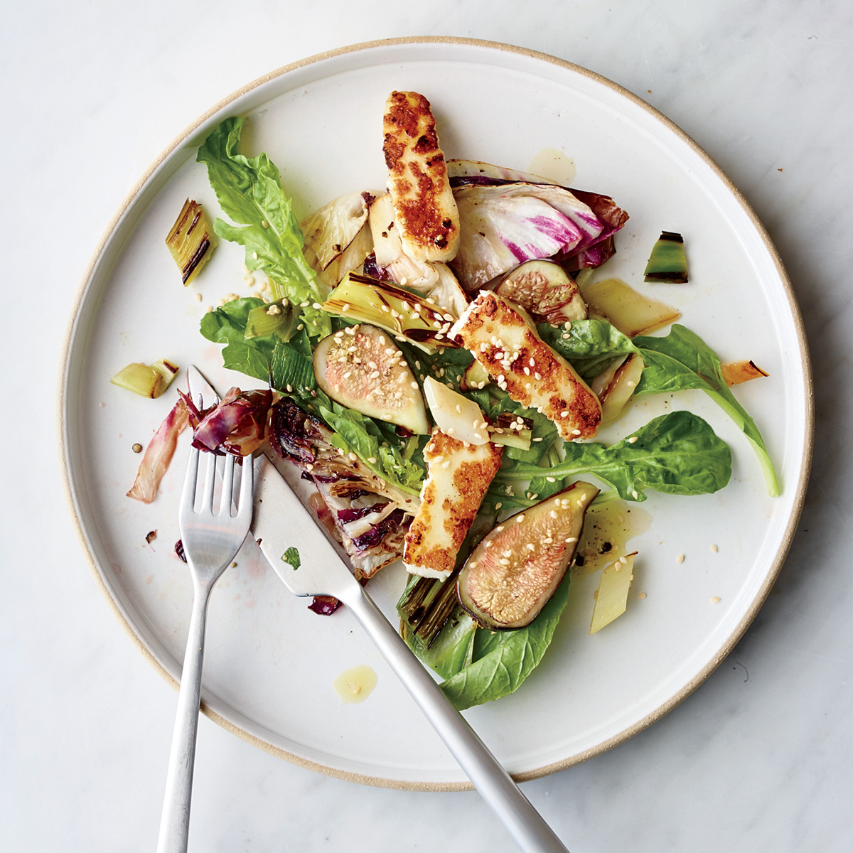 Charred-Vegetable Salad 