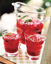Tangy Hibiscus-Lime Iced Tea