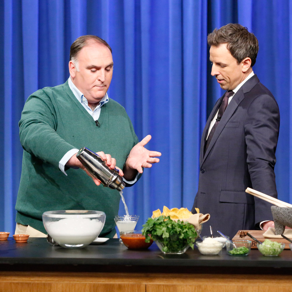 Jose Andres on Seth Meyes