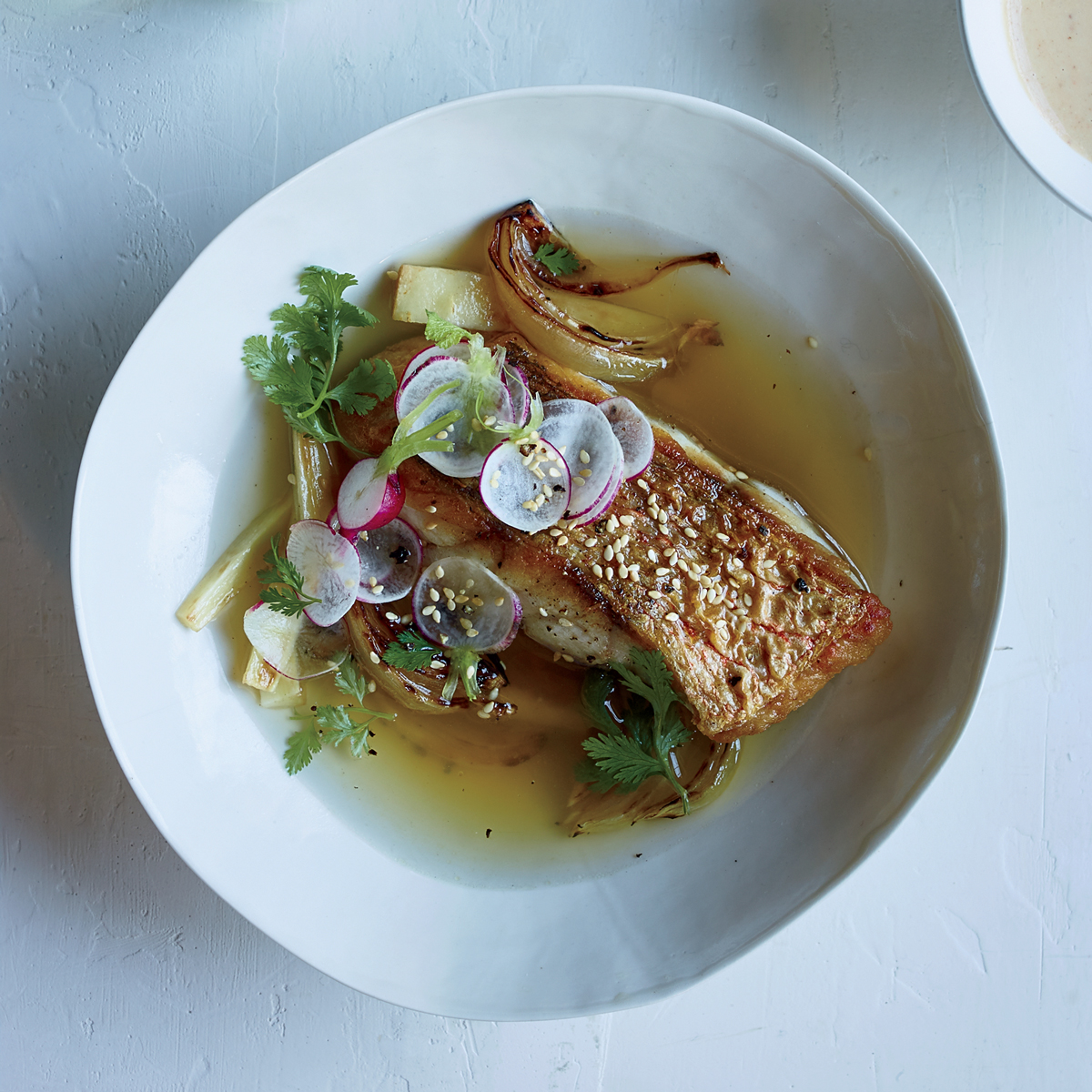 Red Snapper with Korean Miso Vinaigrette