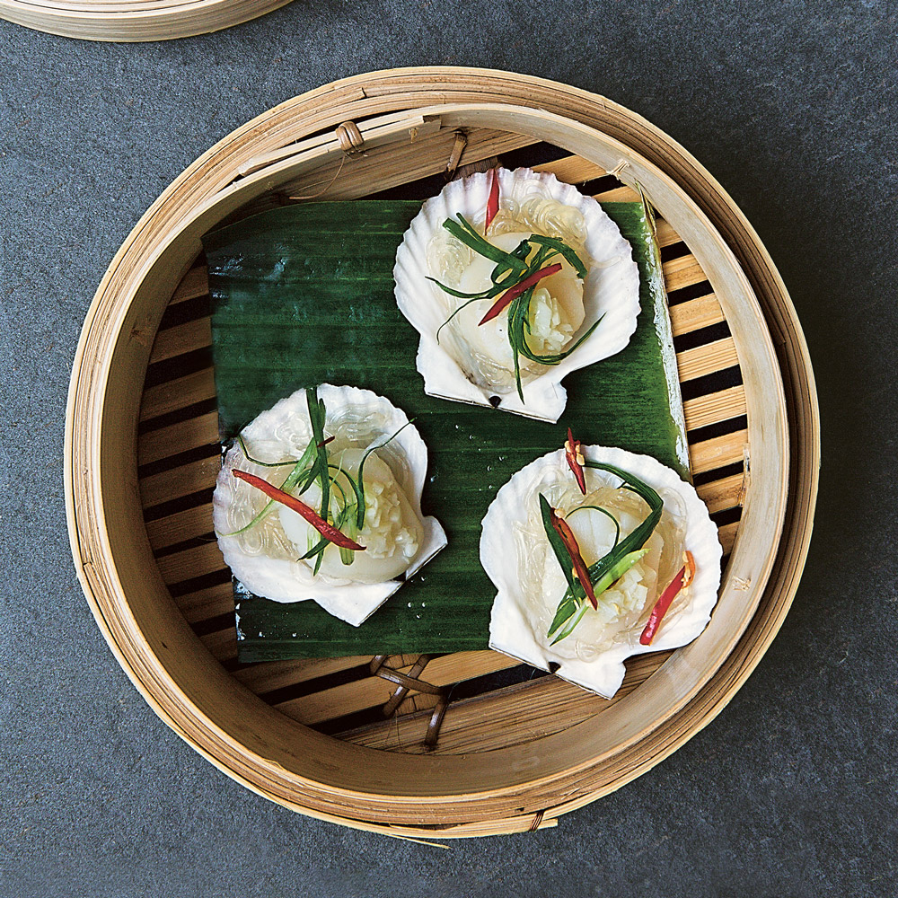 Steamed Scallops with Garlic (25 minutes)