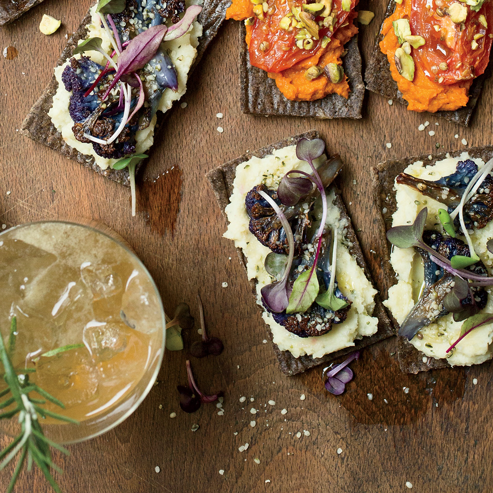 Roasted Cauliflower Flatbreads with Celery Puree Root