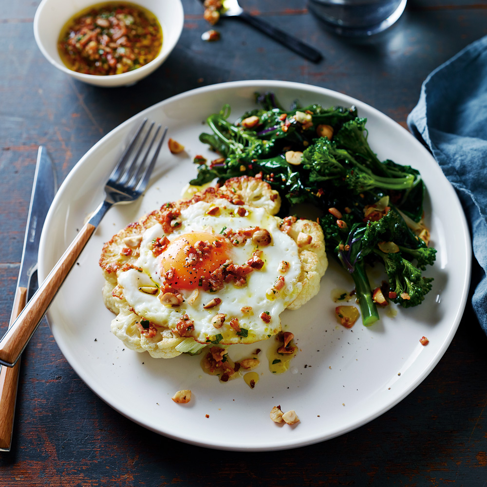 Cauliflower Steak and Eggs