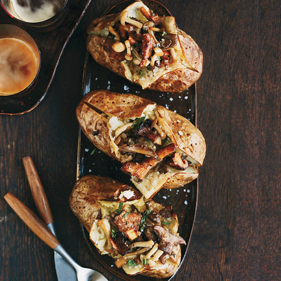 Baked Potatoes with Wild Mushroom Ragù