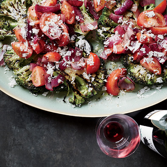 Charred Broccoli and Red Onion Salad