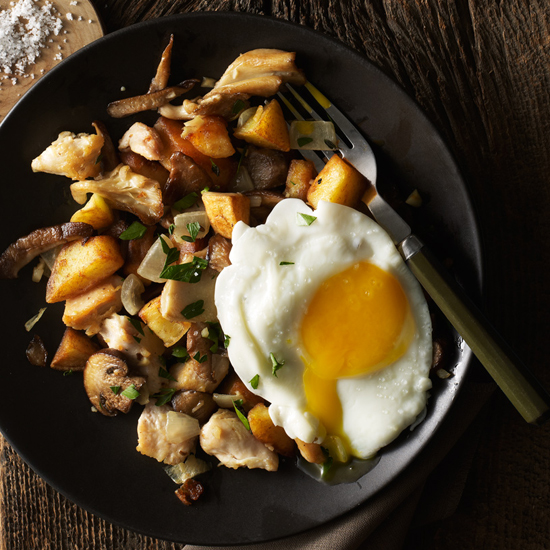 Potato, Mushroom, and Chicken Hash