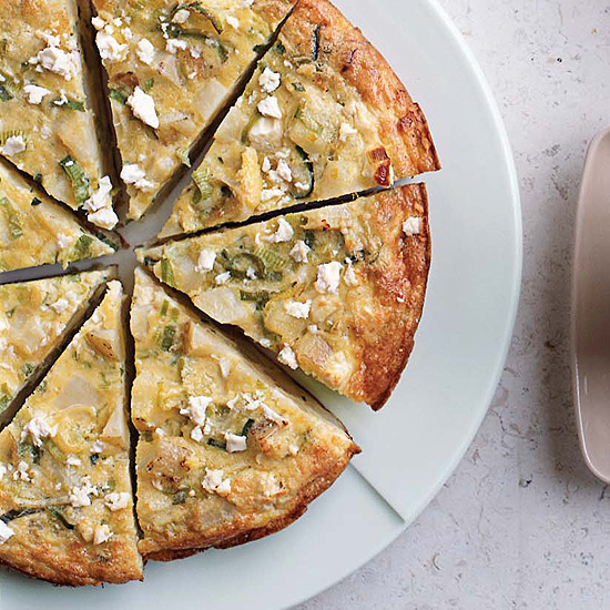 "<p itemprop=""name"">Yukon Gold Potato, Leek and Fromage Blanc Frittata</p>"