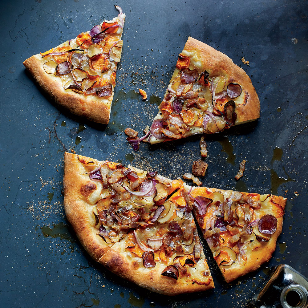 Crispy Potato Tarte Flambee