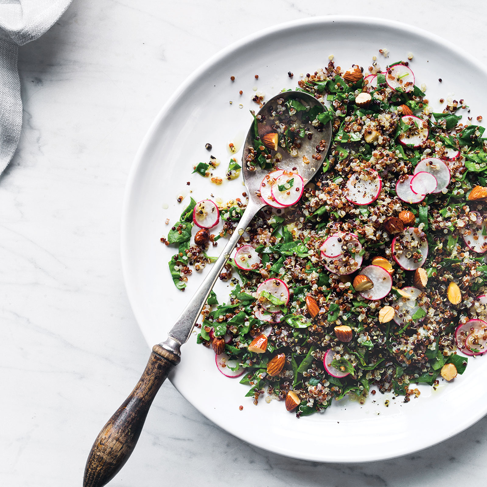Quinoa with Spinach and Roasted Almonds