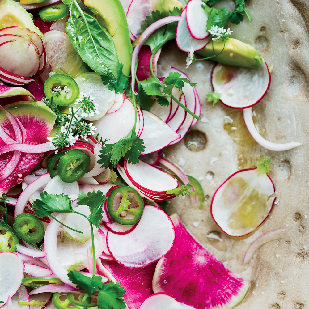 Radish and Avocado Salad