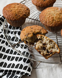 Brunch Recipes: Chocolate Chip and Banana Muffins