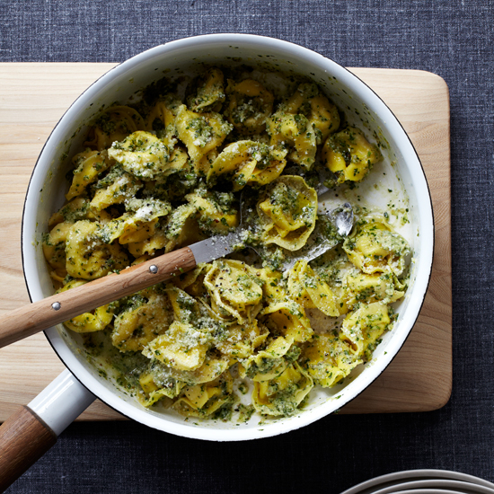 Cheese Tortellini with Walnut Pesto