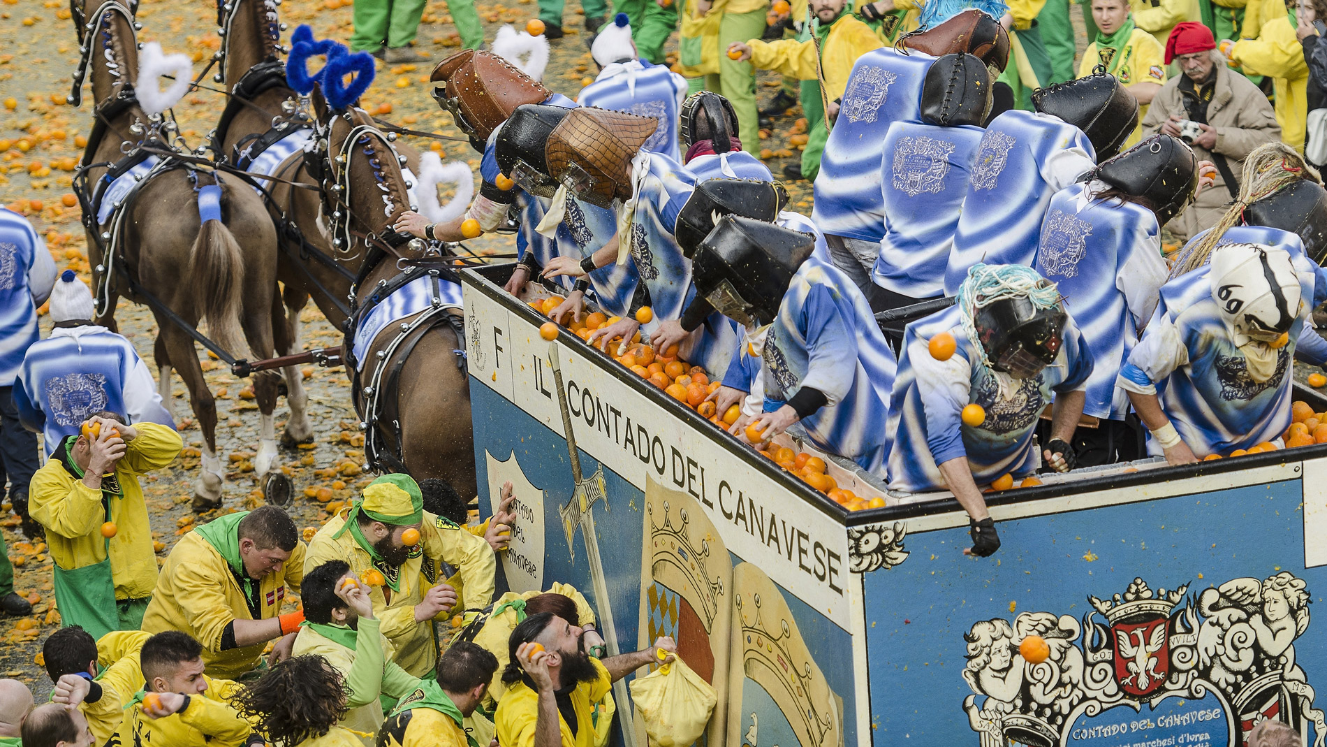 Northern Italy's Massive Annual Food Fight Is Underway