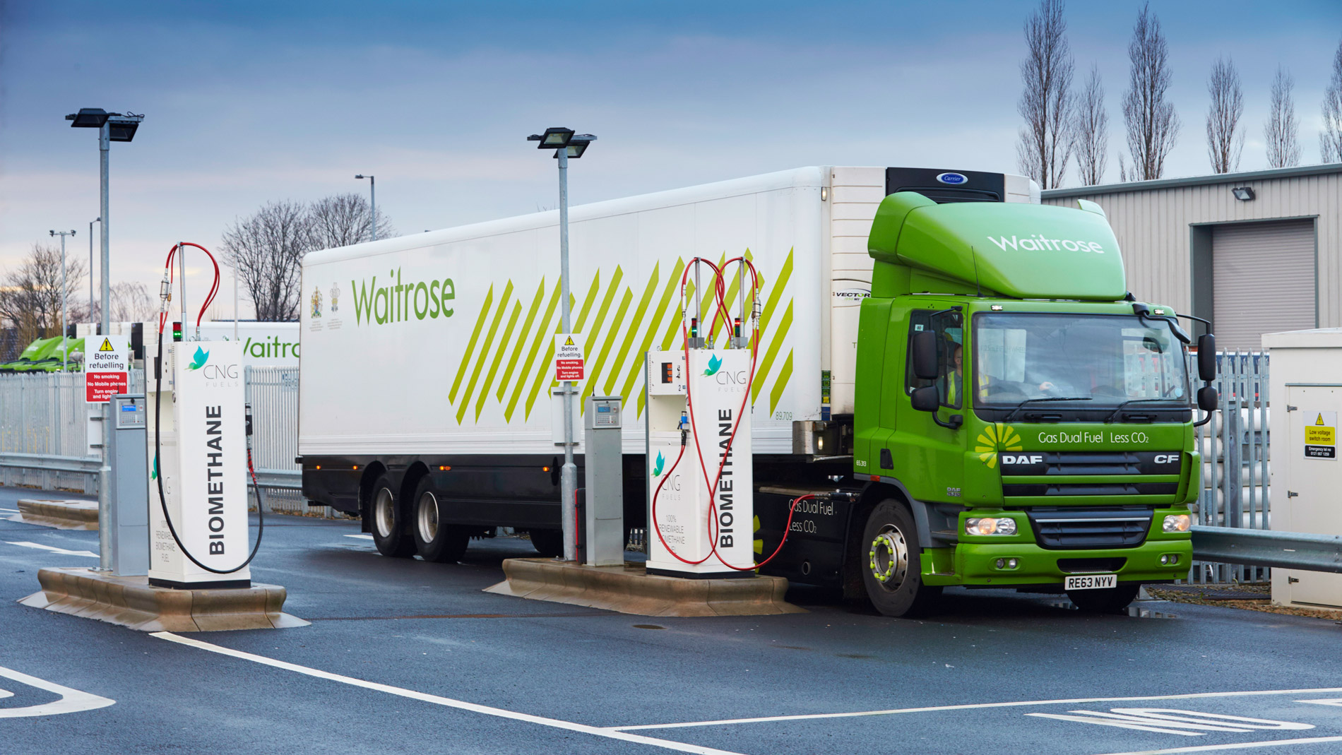 Waitrose Delivery Trucks Biomethane