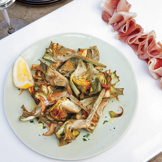 How to Cook Artichokes: Roasted Artichokes and Prosciutto