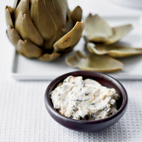 Spring Recipes: Artichokes with Smoked-Herb Mayonnaise