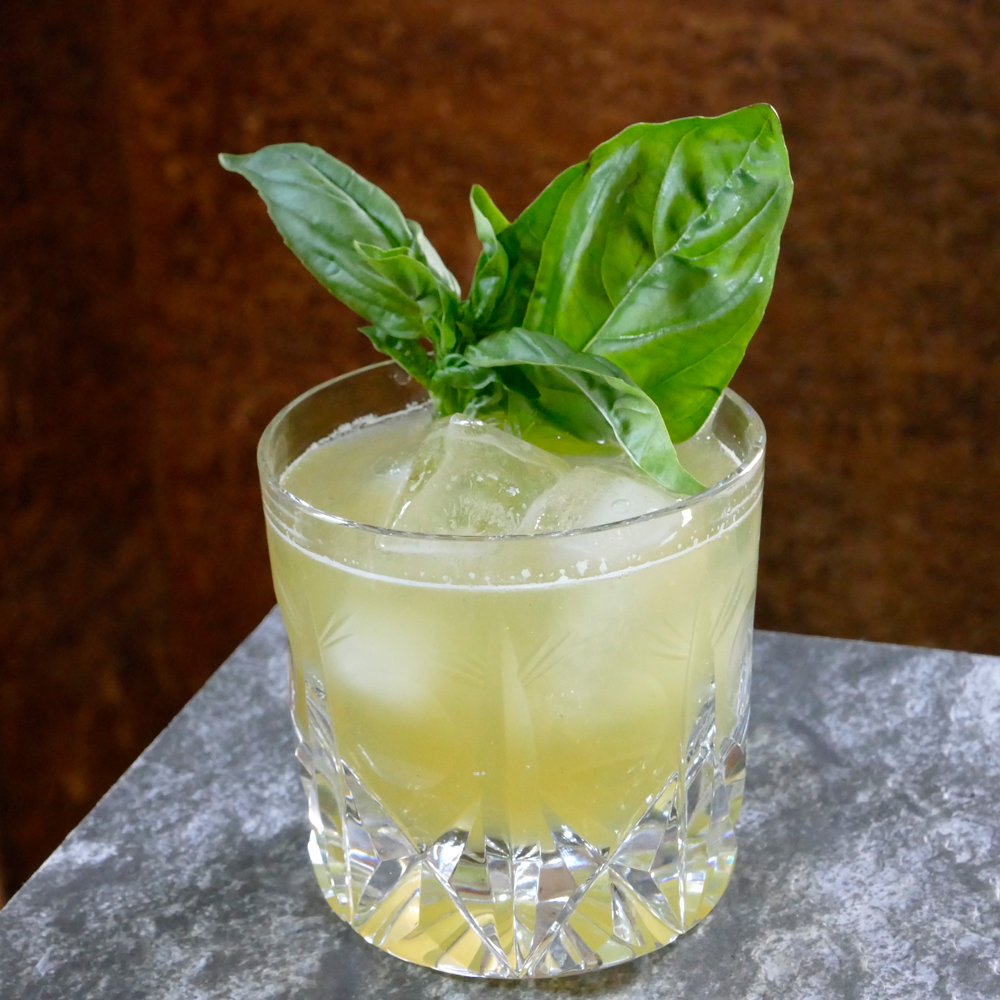 Basil & Whiskey Cocktail