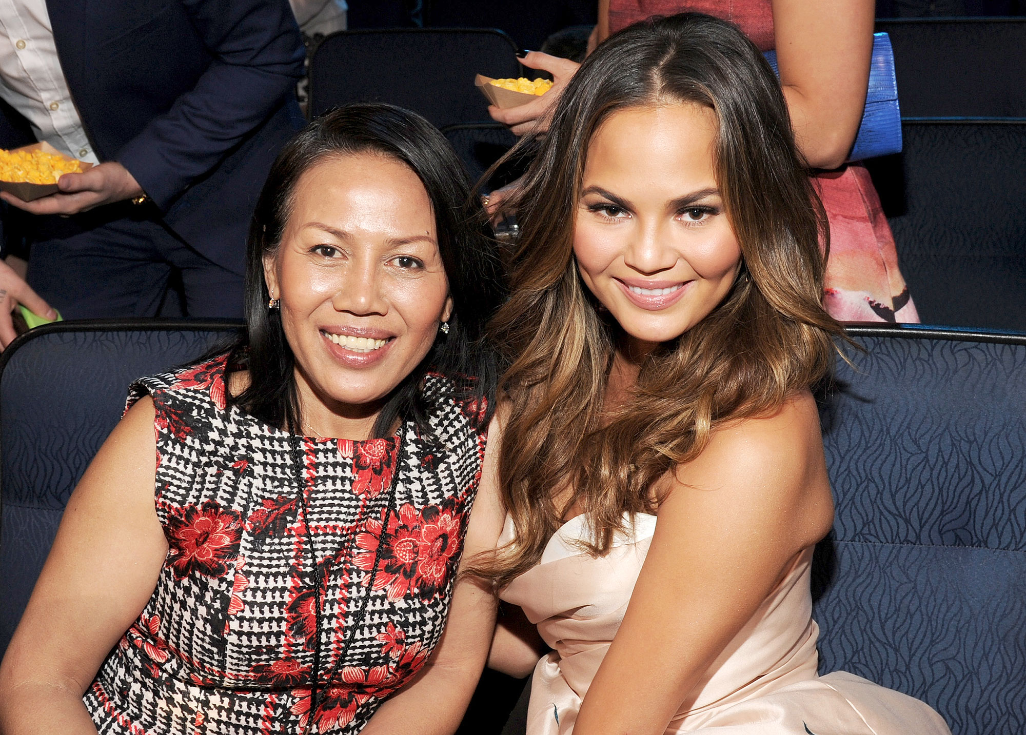 Chrissy Teigen and Her Mom Have a Seinfeld Moment with Homemade Sausages
