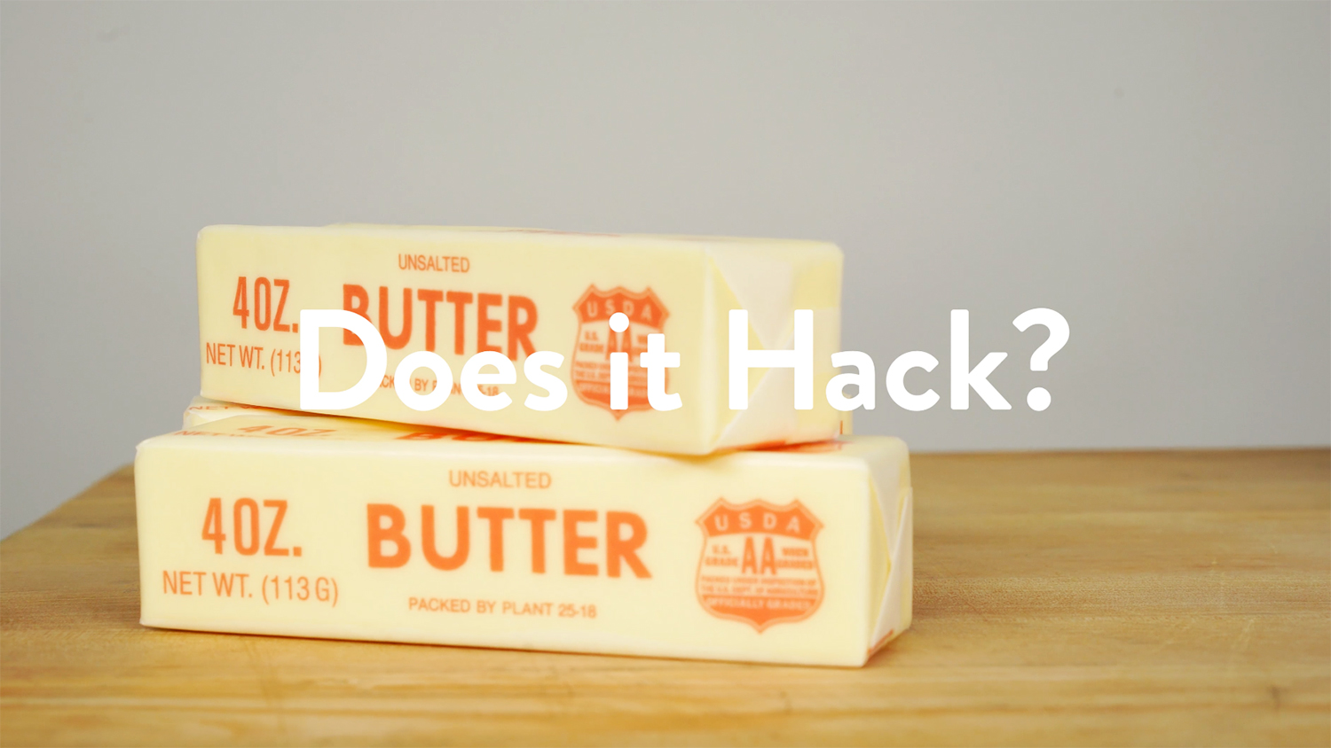 does it hack butter
