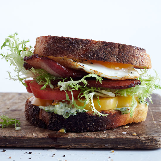 Fried-Egg BLTs with Arugula Aioli