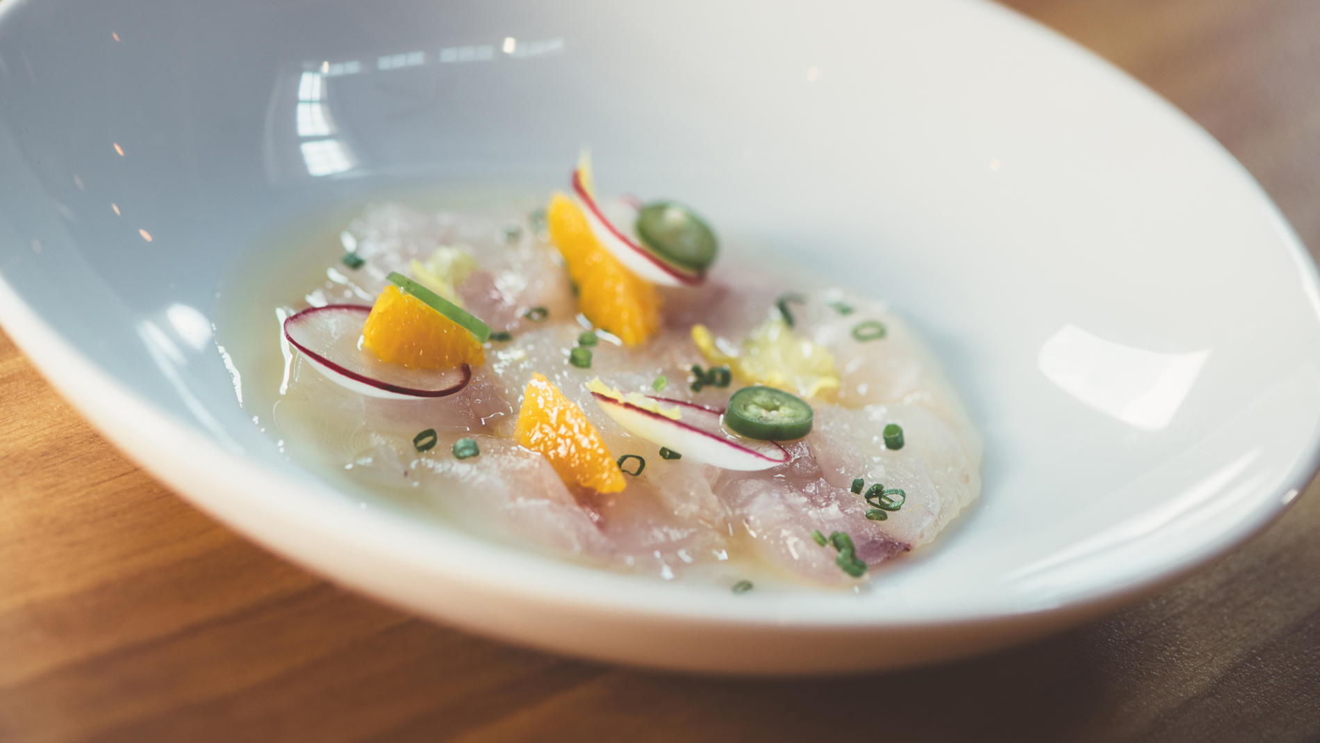 Yellowtail Crudo at Jianna