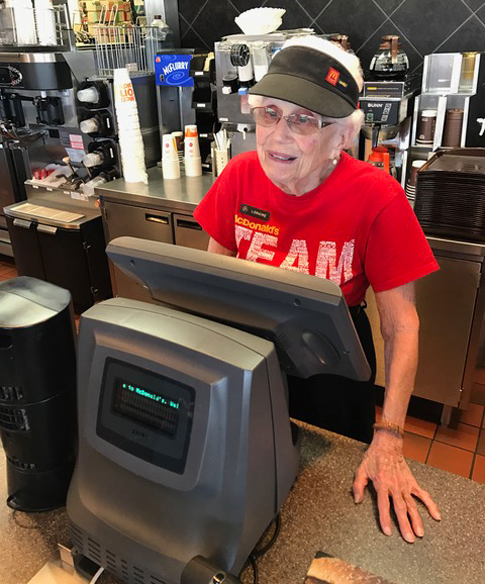 94-Year-Old Woman Has Worked at McDonald's for 44 Years — and She Eats It Every Shift