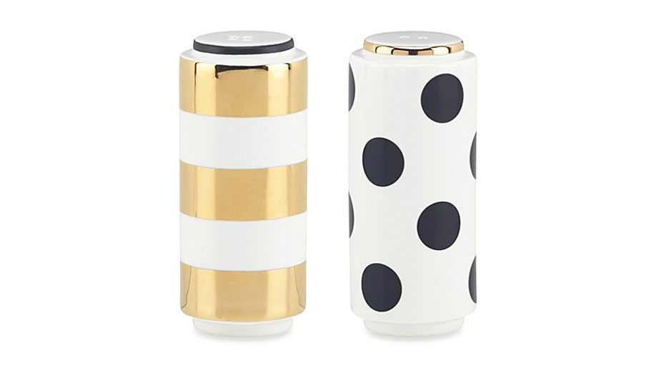 Polka Dot and Stripes Salt and Pepper Shakers
