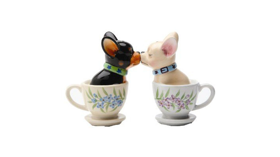 Tea Cup Pups Salt and Pepper Shakers