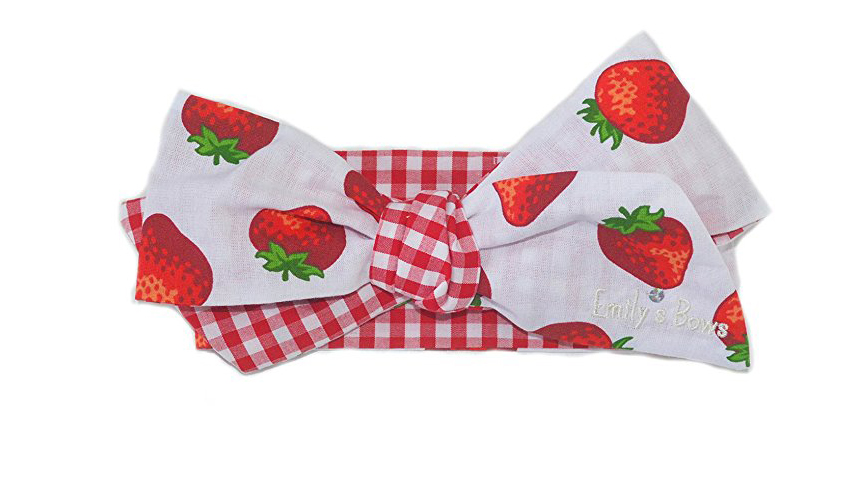 Strawberry Baby Bow