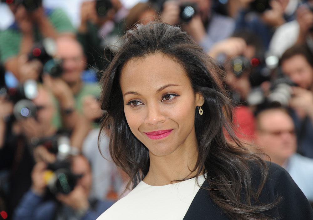 Zoe Saldana attends the photocall for 'Blood Ties' at The 66th Annual Cannes Film Festival