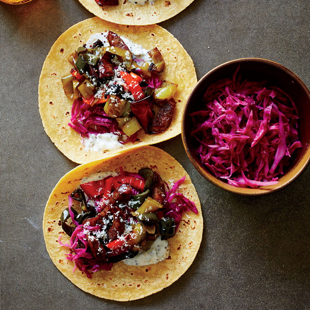 Brat and Pepper Tacos