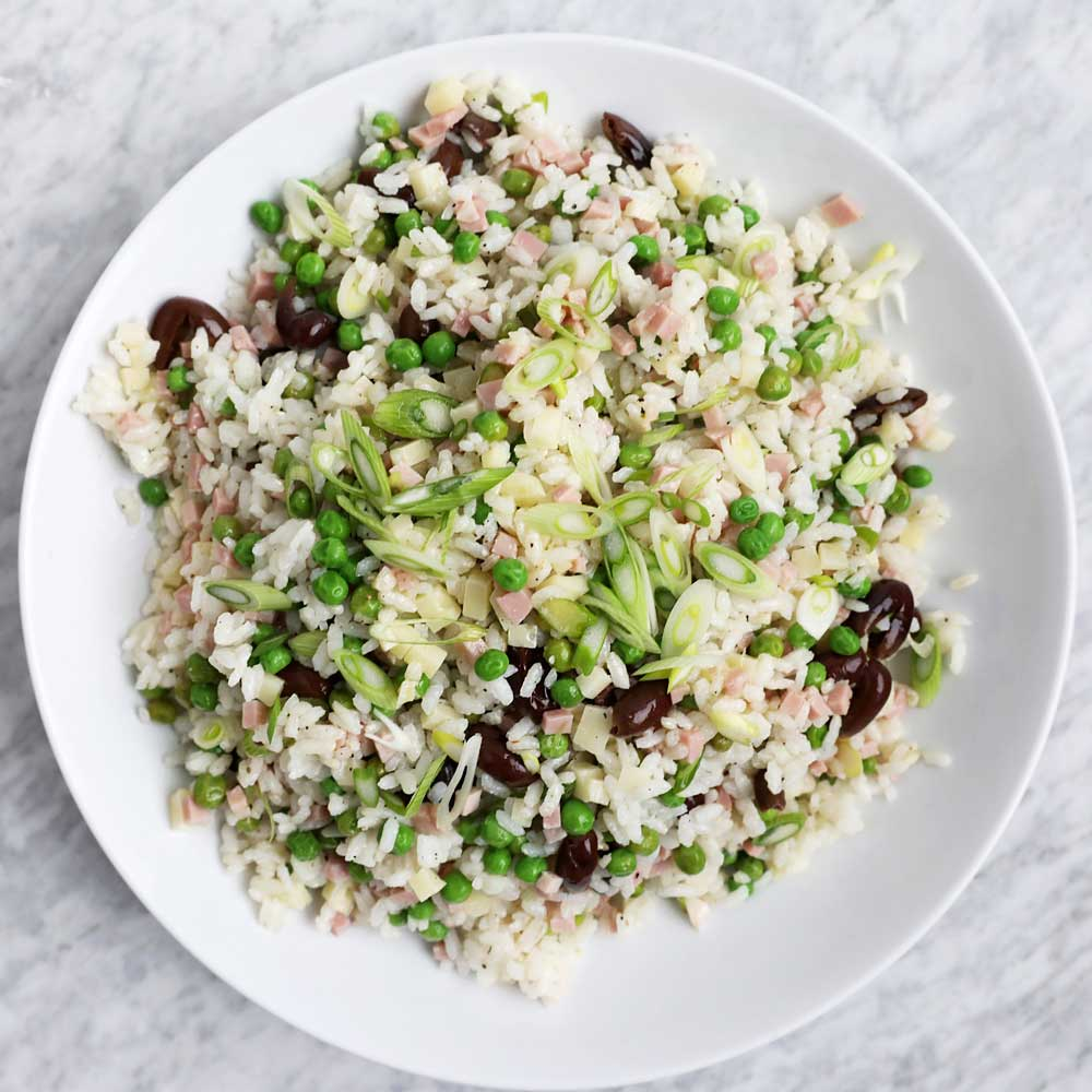 Italian Rice Salad with Soppressata and Caciocavallo