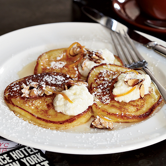 The Breslin's Lemon-Ricotta Pancakes with Orange Syrup