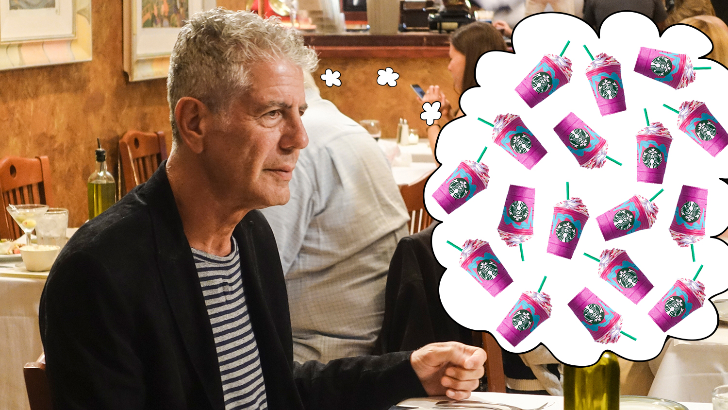 anthony bourdain unicorn frap starbucks