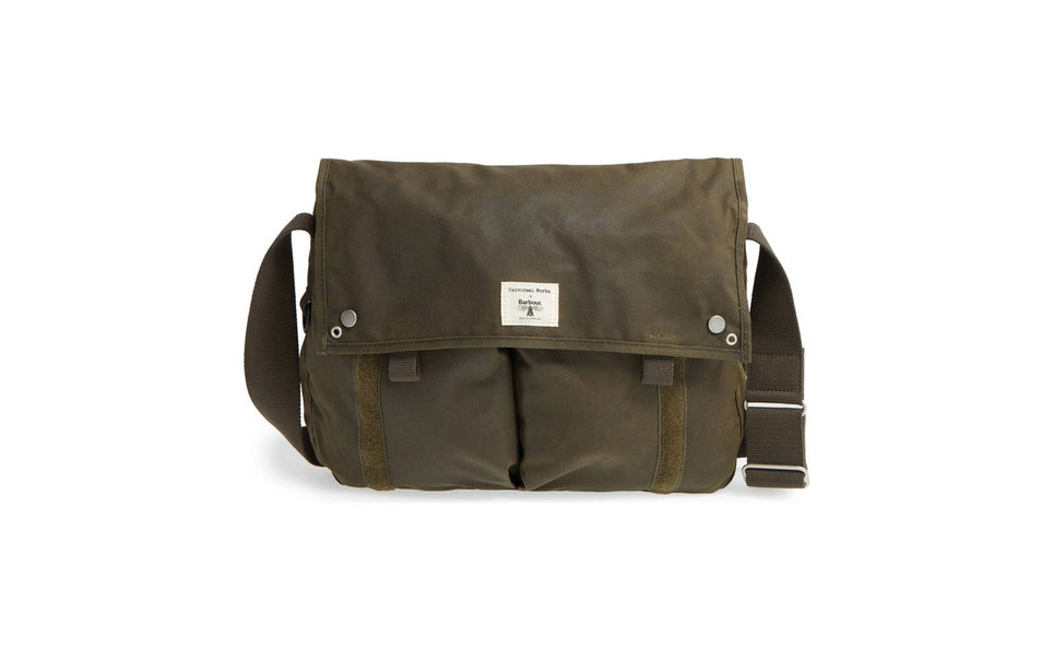 """<h2 data-bind="""" title"""">Barbour Waxed Canvas Messenger Bag</h2>"""