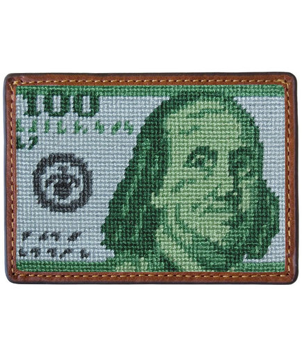 <p>Benjamin Needlepoint Credit Card Wallet</p>