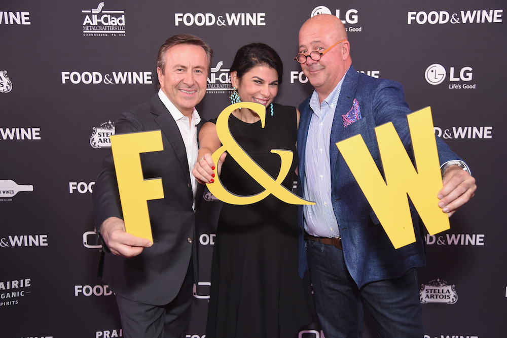 Daniel Boulud, Food & Wine Editor in Chief Nilou Motamed, and Andrew Zimmern at Best New Chefs 2017