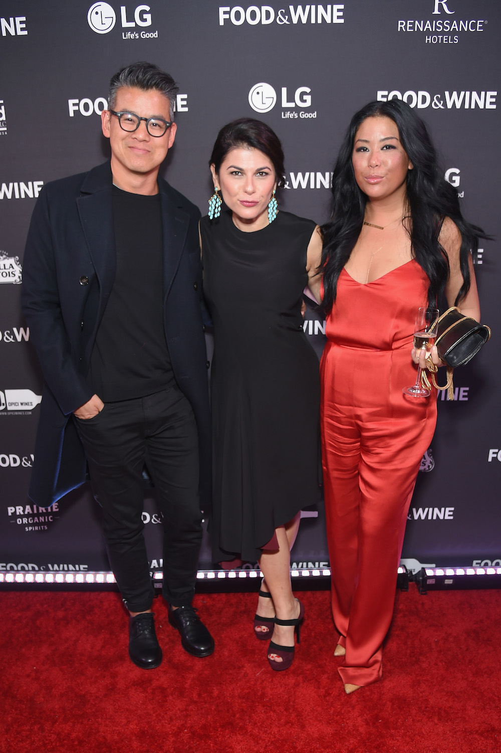 Peter Som, Nilou Motamed, and Angie Mar at Best New Chefs 2017