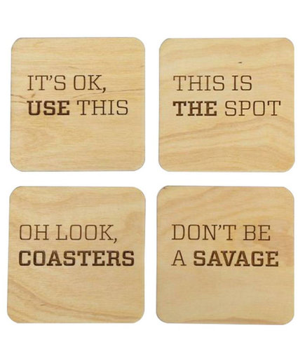 <p>Brika 'Use the Coasters' Coaster Set</p>