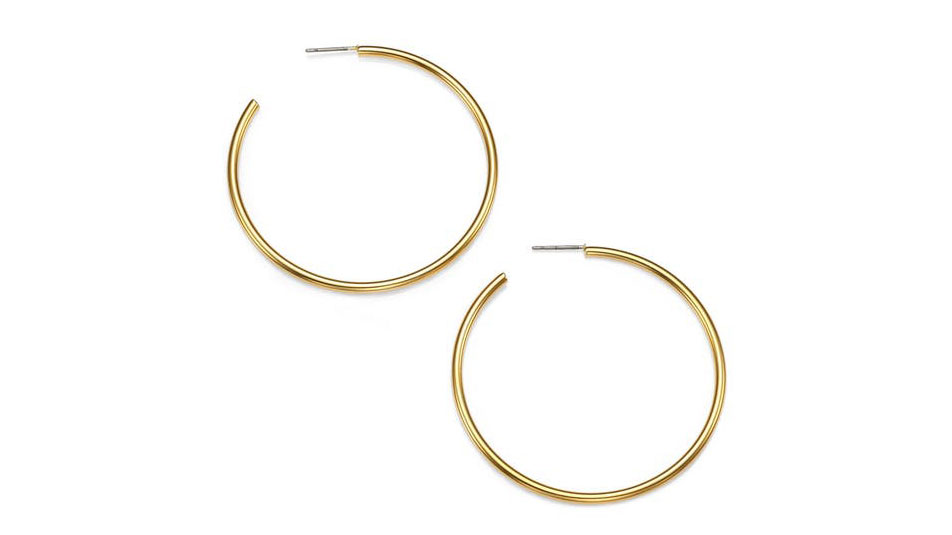 Kenneth Jay Lane Classic Hoop Earrings