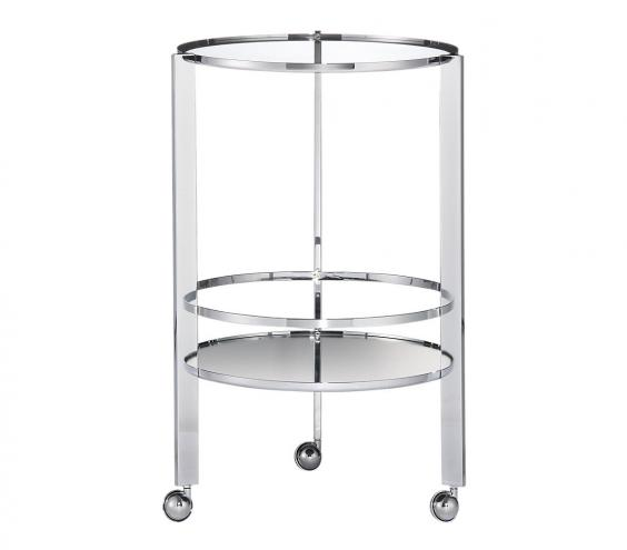 <p>Ernest Chrome Bar Cart</p>
