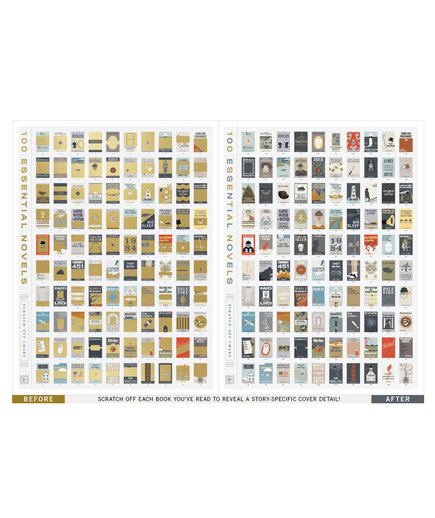 <p>Pop Chart Lab 100 Essential Books Poster</p>
