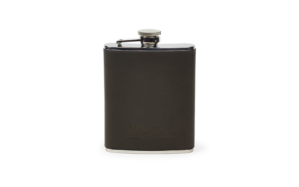 "<p data-bind="" title"">Filson Black Leather Flask</p>"