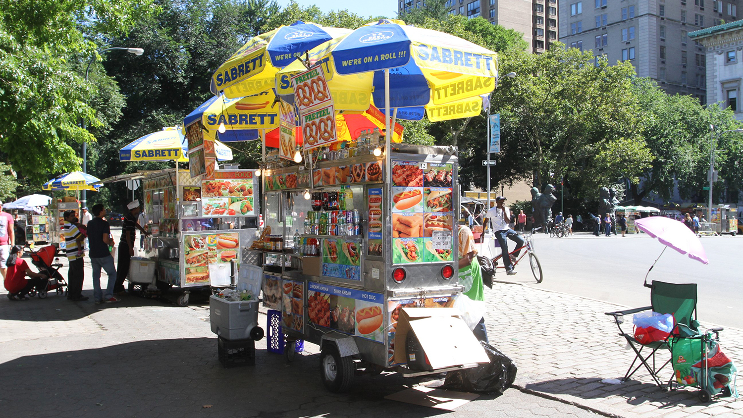 street food vendor in NYC