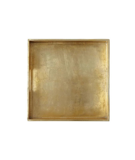 <p>Square Lacquer Tray in Gold</p>